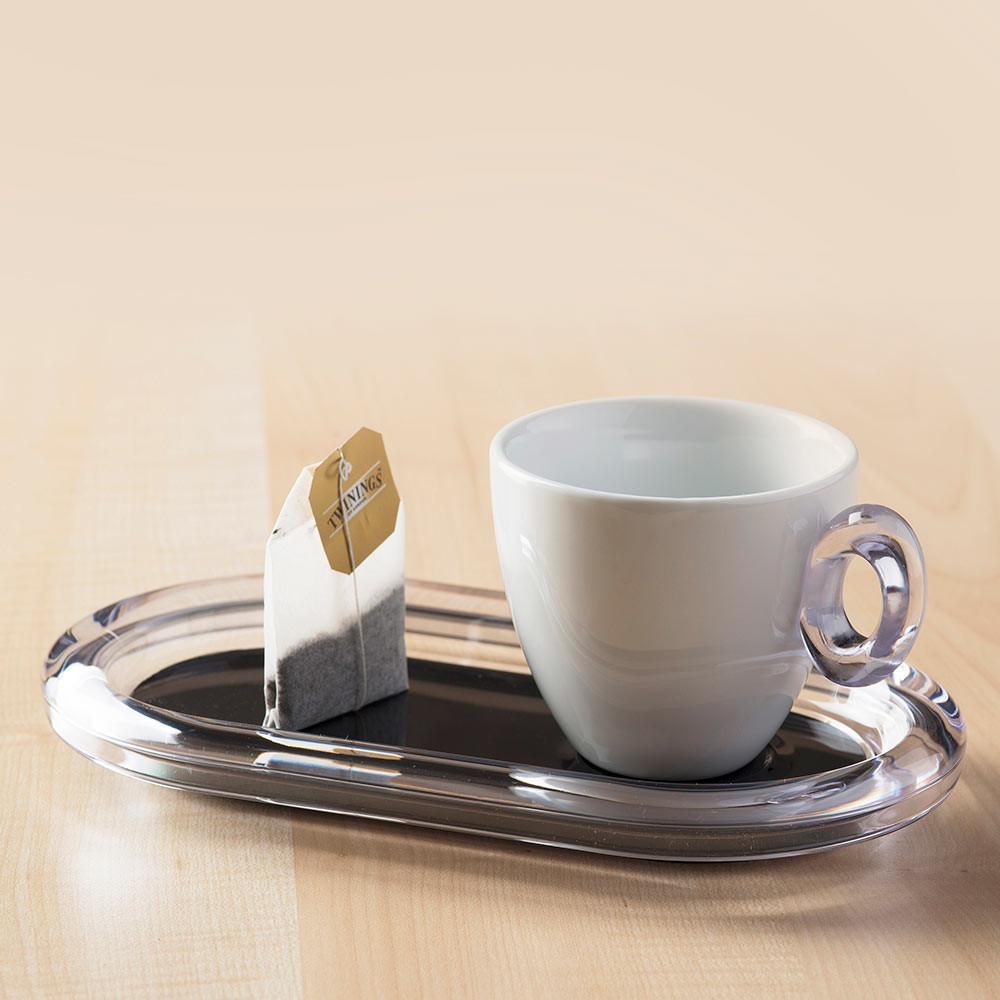 Tea cup Crystal with tray for cookies