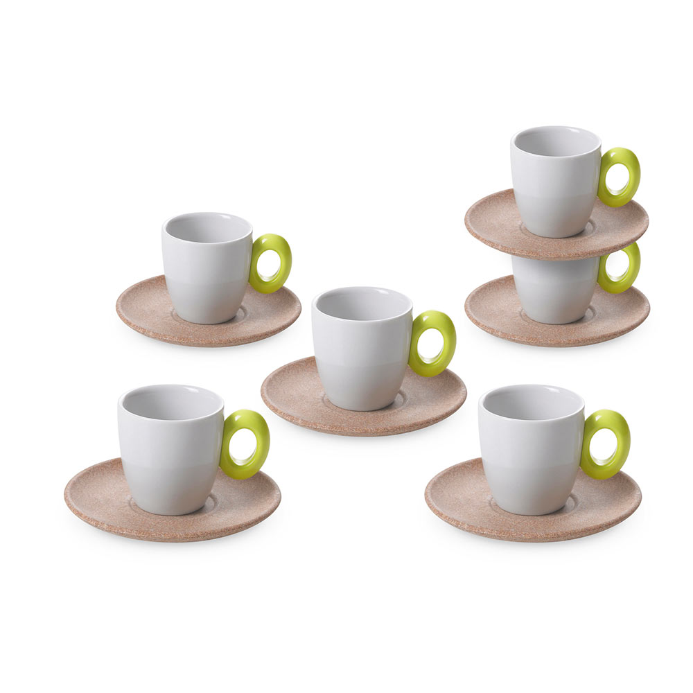 Set of 6 coffee cups Ecoliving