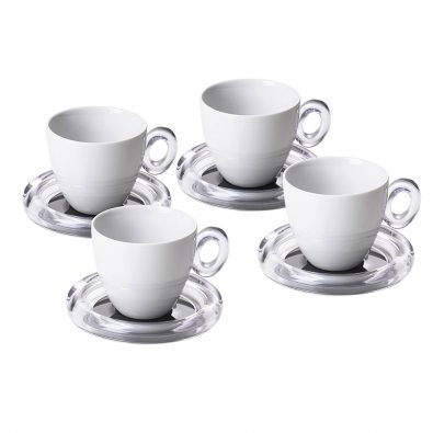 Set of 4 tea cups Crystal