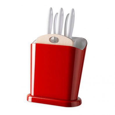 Trendy multifunctional log with 5 knives and cutting board