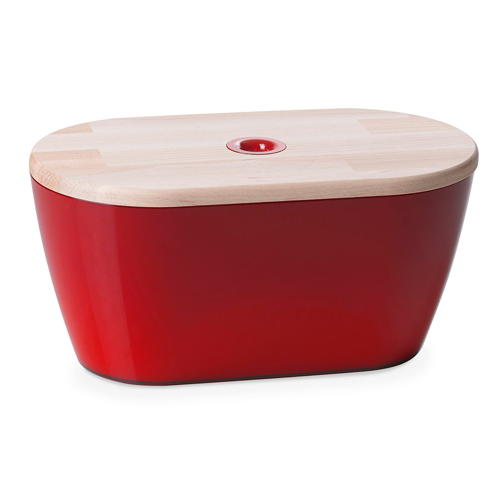 Bread bin Woody 6 litres w/ cover/chopping board in wood