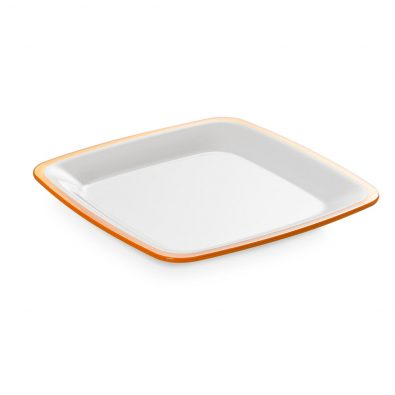 Dinner plate Square 23 cm in plastic