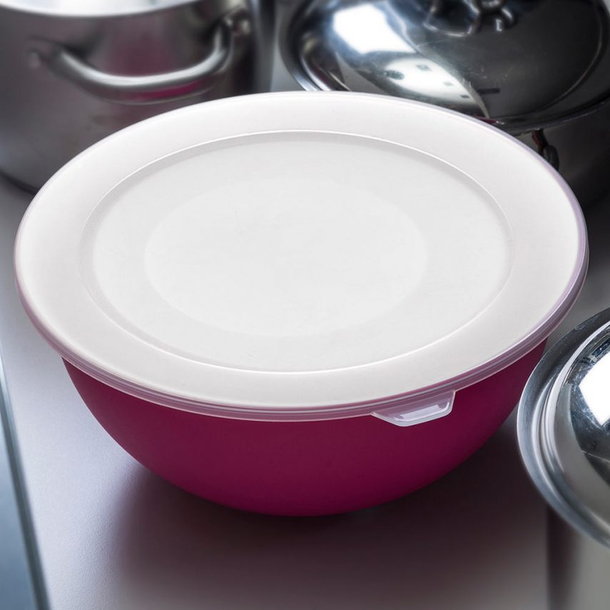 Set of 3 bowls with lids antibacterial Microban®