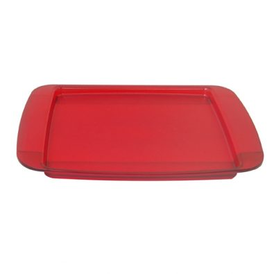 Rectangular tray with frost bottom