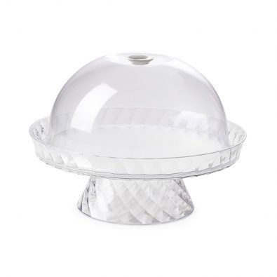 Cake stand Diamond diameter 36 cm w/ freshness safety dome