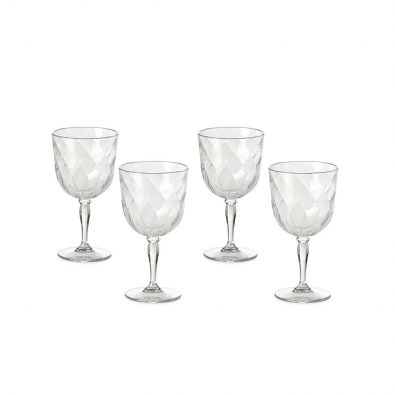 Set 4 calici vino Diamond da 27,5 cl
