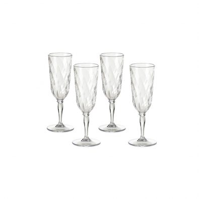 Set of 4 champagne flute Diamond 17,5 cl