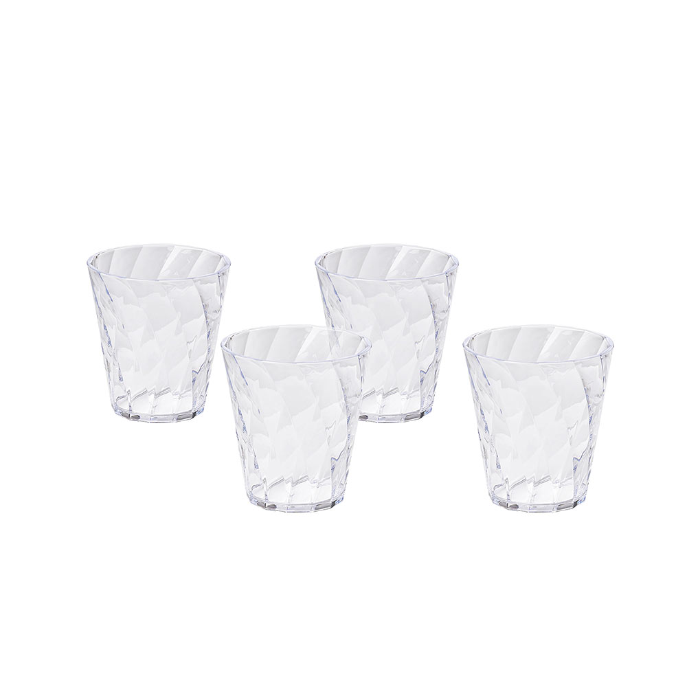 Set of 4 water glasses Diamond 35 cl