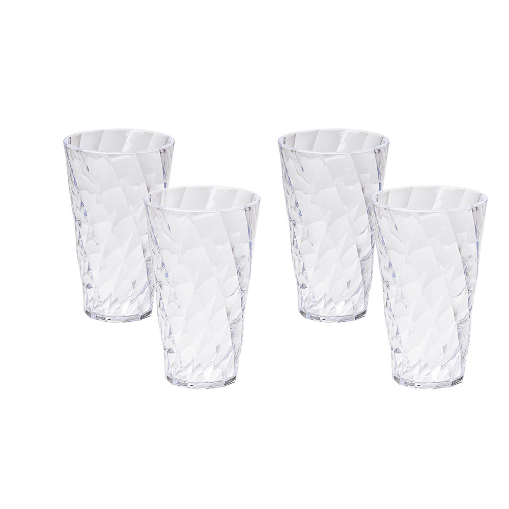 Set of 4 tumblers glasses Diamond 50 cl