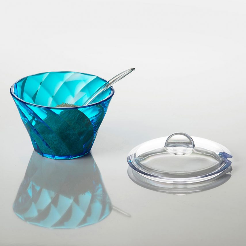 Sugar bowl Diamond 17,5 cl with teaspoon