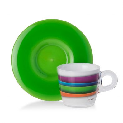 Set 4 tazzine da caffè Plexart decoro Colour Waves