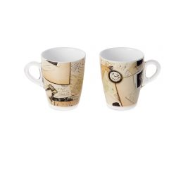 Set 2 mug Plexart con decoro Old Memories