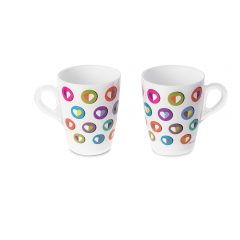 Set 2 mug Plexart con decoro Heart Colour
