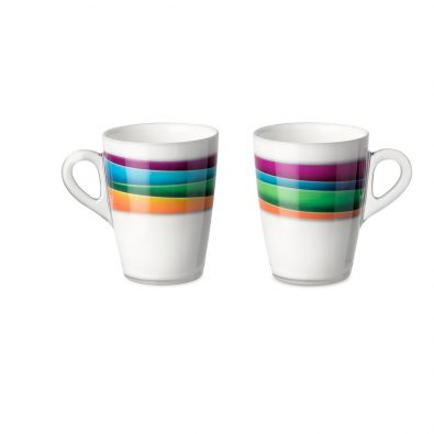 Set 2 mug Plexart con decoro Colour Waves