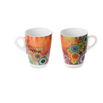 Set 2 Plexart mug with Mixart decoration
